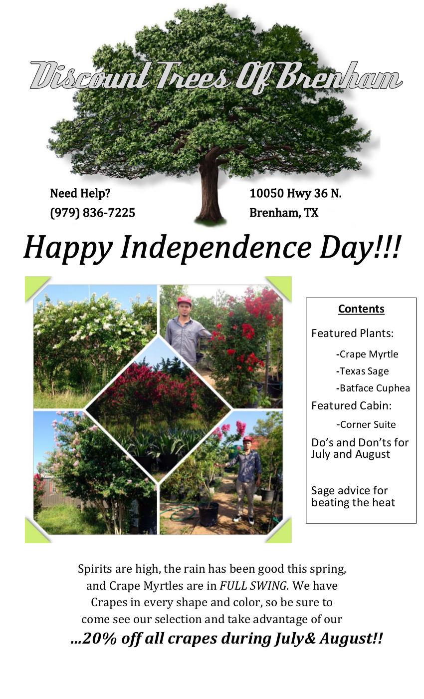 Discount Trees of Brenham :: July/August 2014